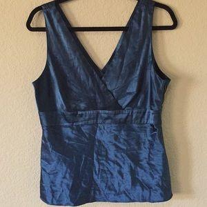 INC teal blouse